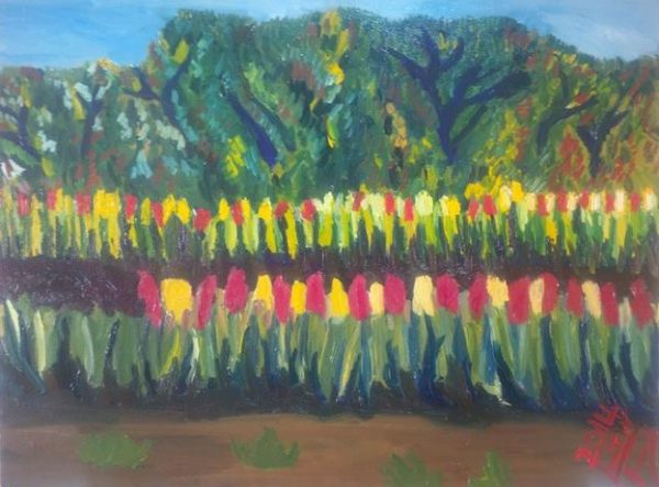 Rostislav Romanov Gardens of Capetown, oil on canvas, 31cm by 41cm 2014