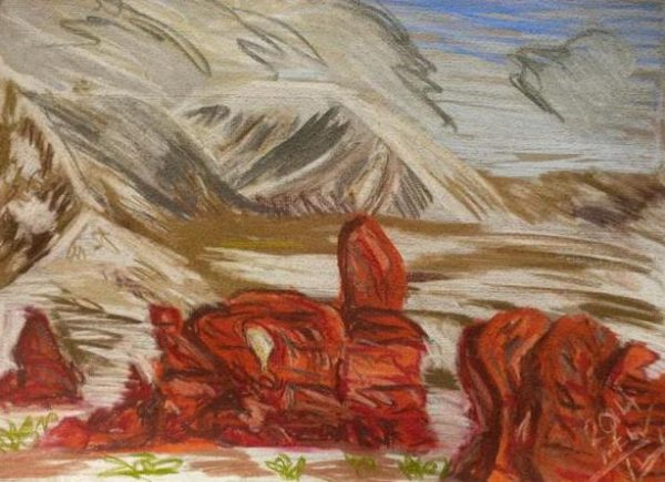 Rostislav Romanov Sketches of Utah, soft pastel, a3, 2014 (4)