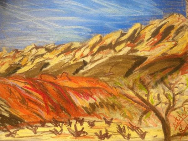 Rostislav Romanov Sketches of Utah, soft pastel, a3, 2014