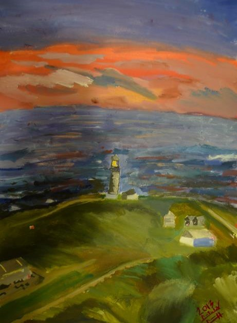 Rostislav Romanov Study of Lighthouse in Kommetjie, watercolour on paper, 41cm by 51cm 2013 (2)