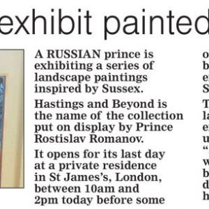 Brighton Argus | Sussex landscapes exhibit painted by Russian prince